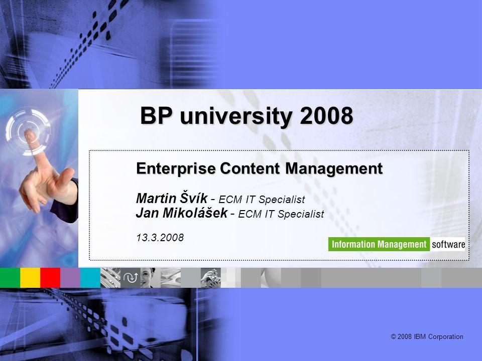 BP university 2008 Enterprise Content Management
