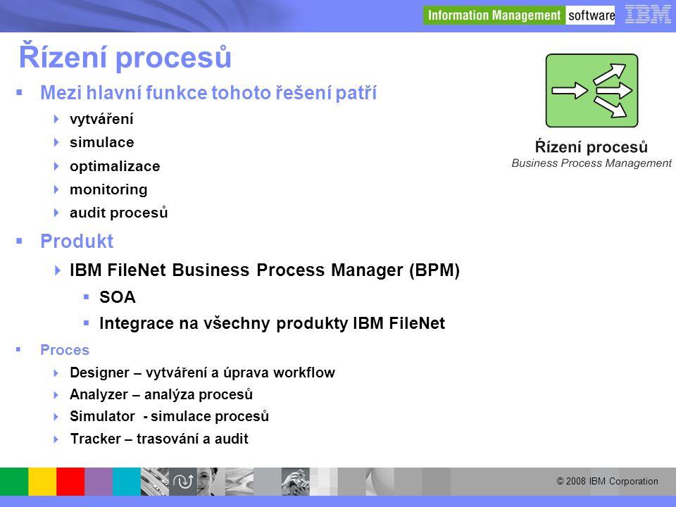 Řízení procesů Mezi hlavní funkce tohoto řešení patří Produkt
