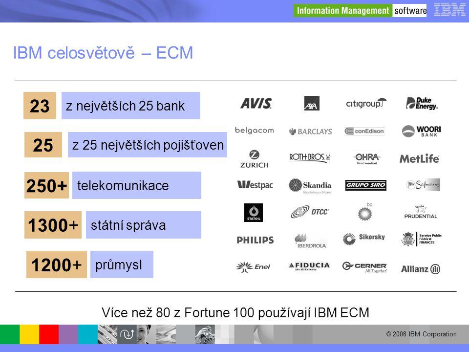 Více než 80 z Fortune 100 používají IBM ECM