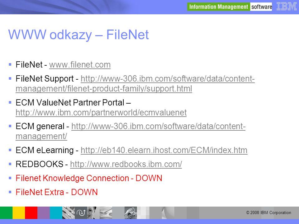 WWW odkazy – FileNet FileNet - www.filenet.com