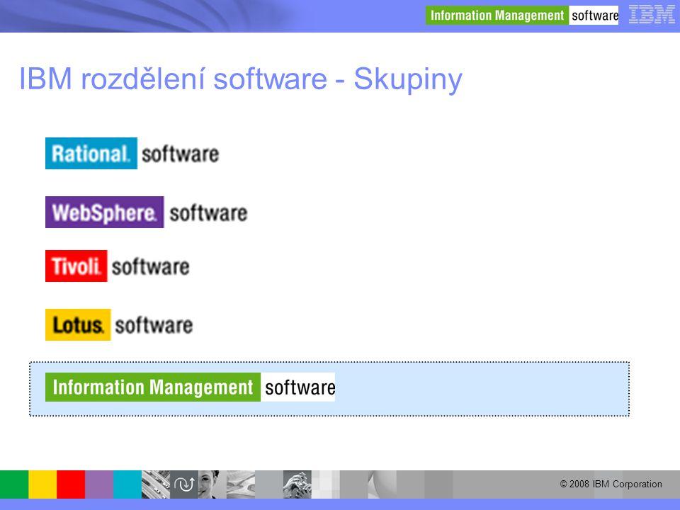 IBM rozdělení software - Skupiny