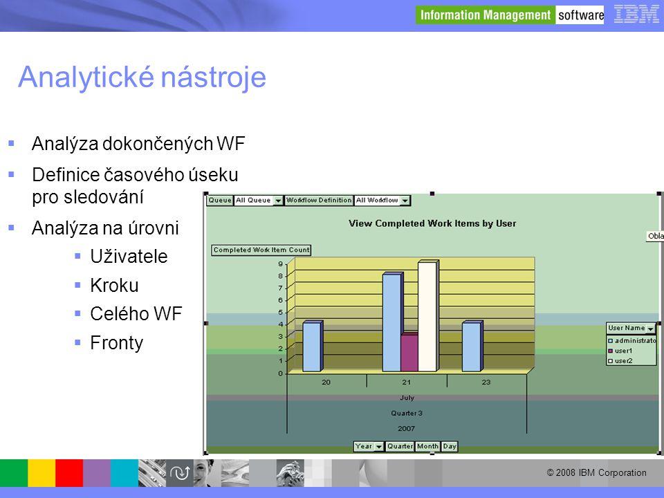 Analytické nástroje Analýza dokončených WF