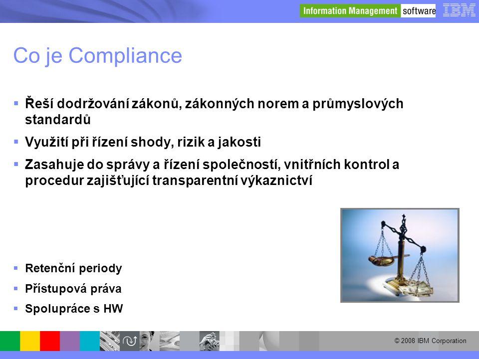Co je Compliance Řeší dodržování zákonů, zákonných norem a průmyslových standardů. Využití při řízení shody, rizik a jakosti.