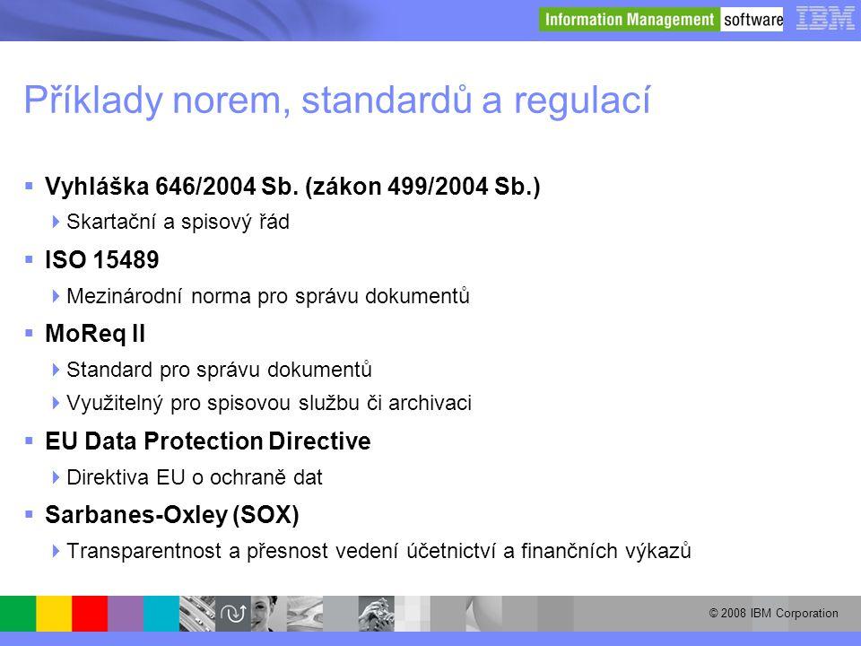 Příklady norem, standardů a regulací