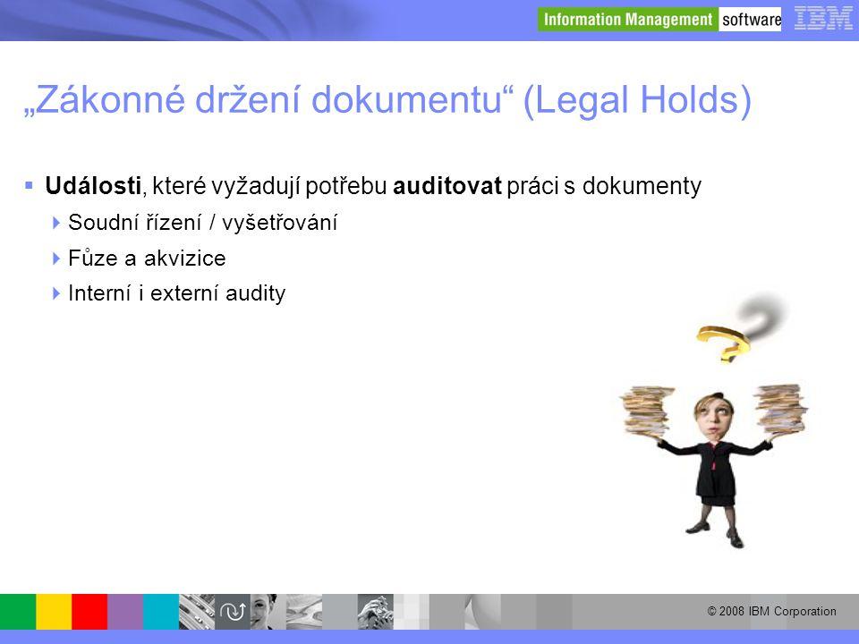 """""""Zákonné držení dokumentu (Legal Holds)"""