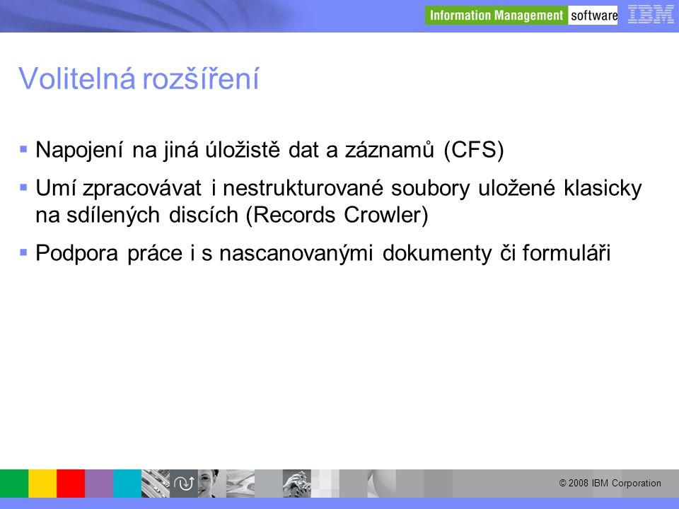 Volitelná rozšíření Napojení na jiná úložistě dat a záznamů (CFS)