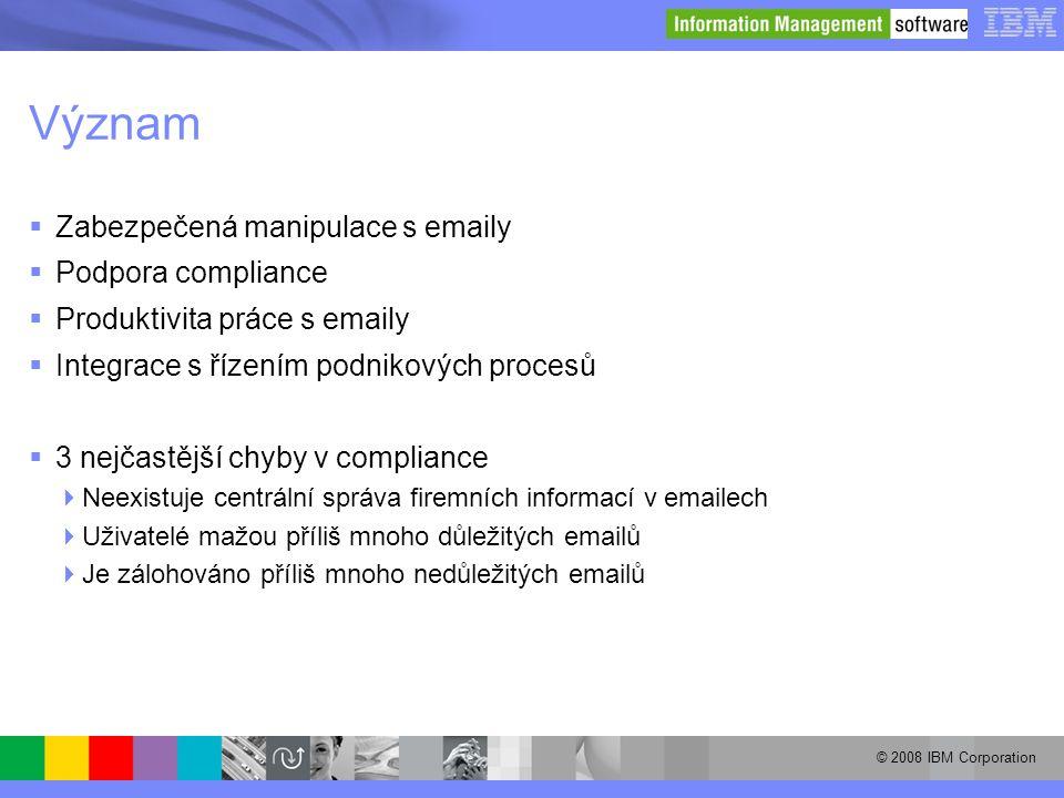 Význam Zabezpečená manipulace s emaily Podpora compliance