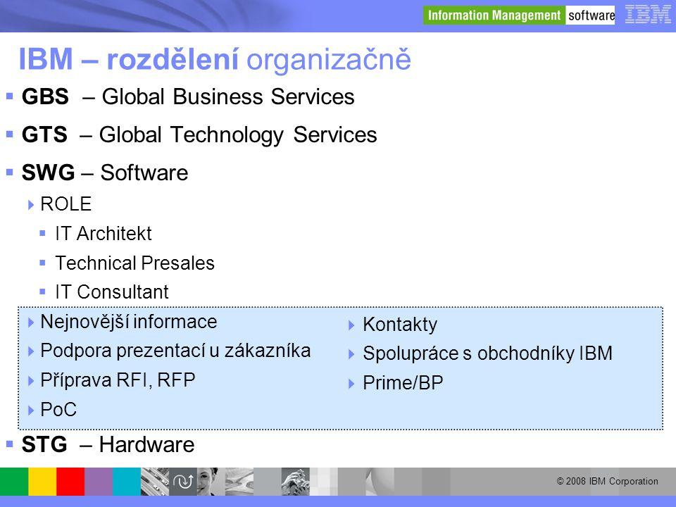 IBM – rozdělení organizačně