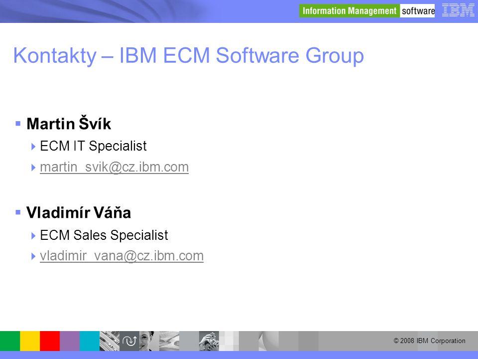 Kontakty – IBM ECM Software Group