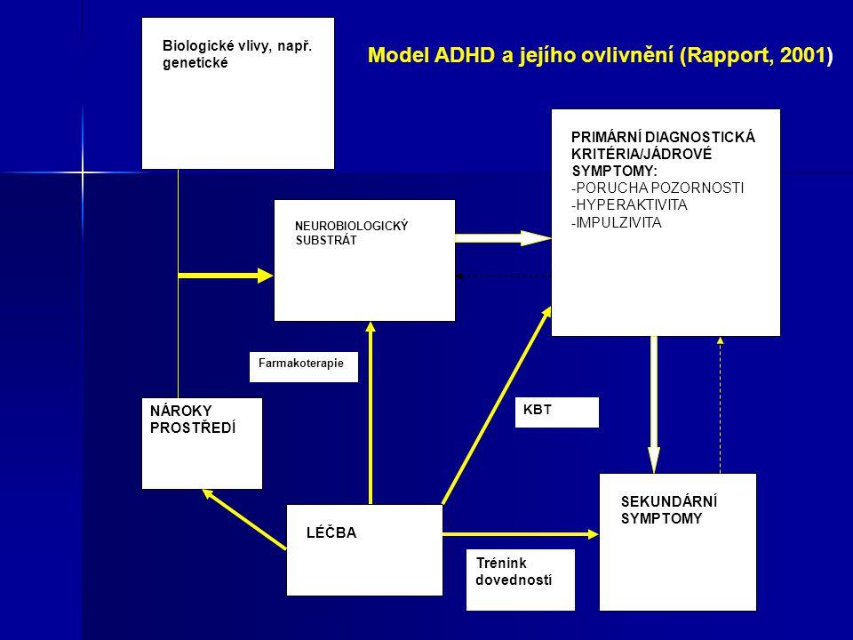 Model ADHD a jejího ovlivnění (Rapport, 2001)