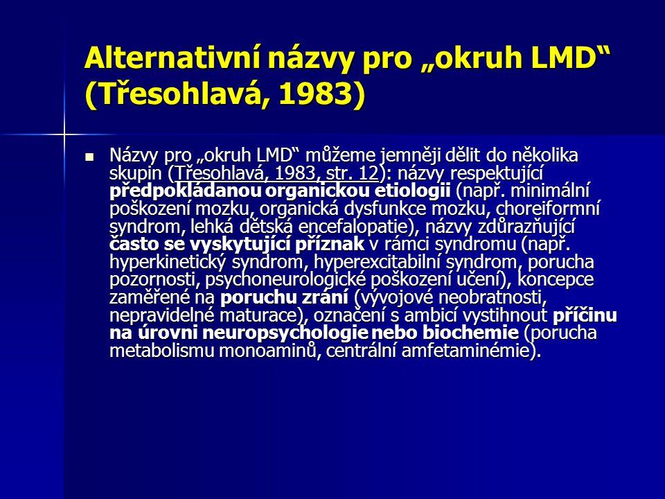 """Alternativní názvy pro """"okruh LMD (Třesohlavá, 1983)"""
