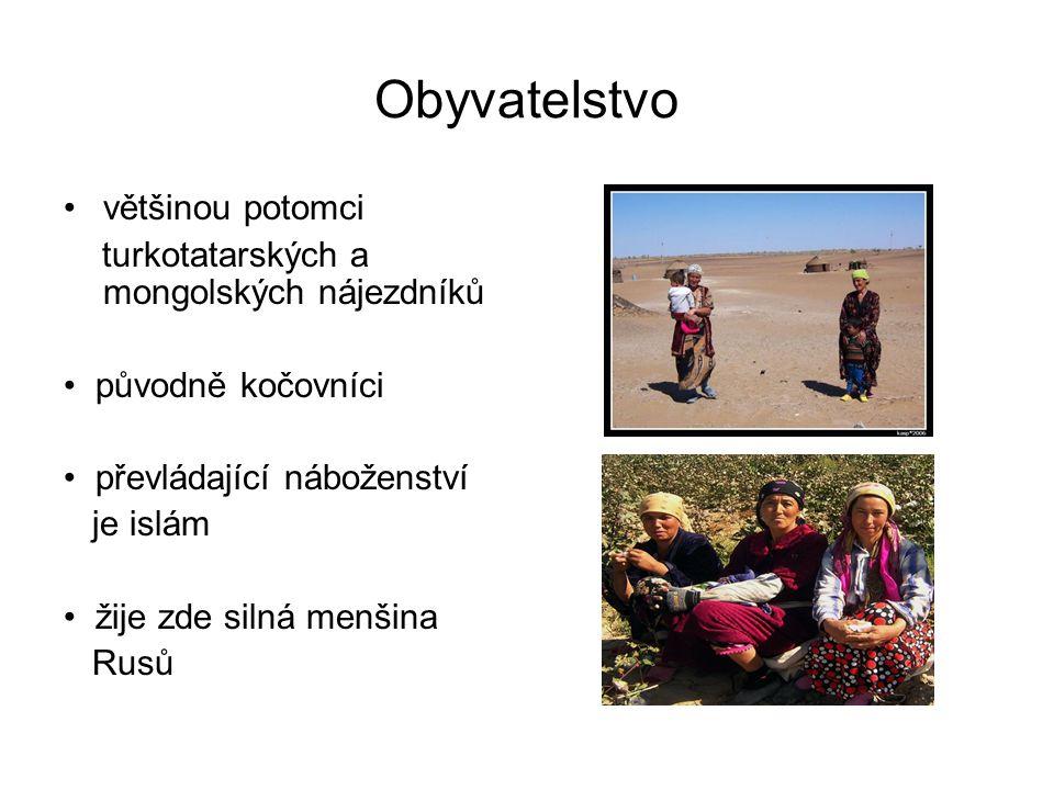 Obyvatelstvo většinou potomci turkotatarských a mongolských nájezdníků