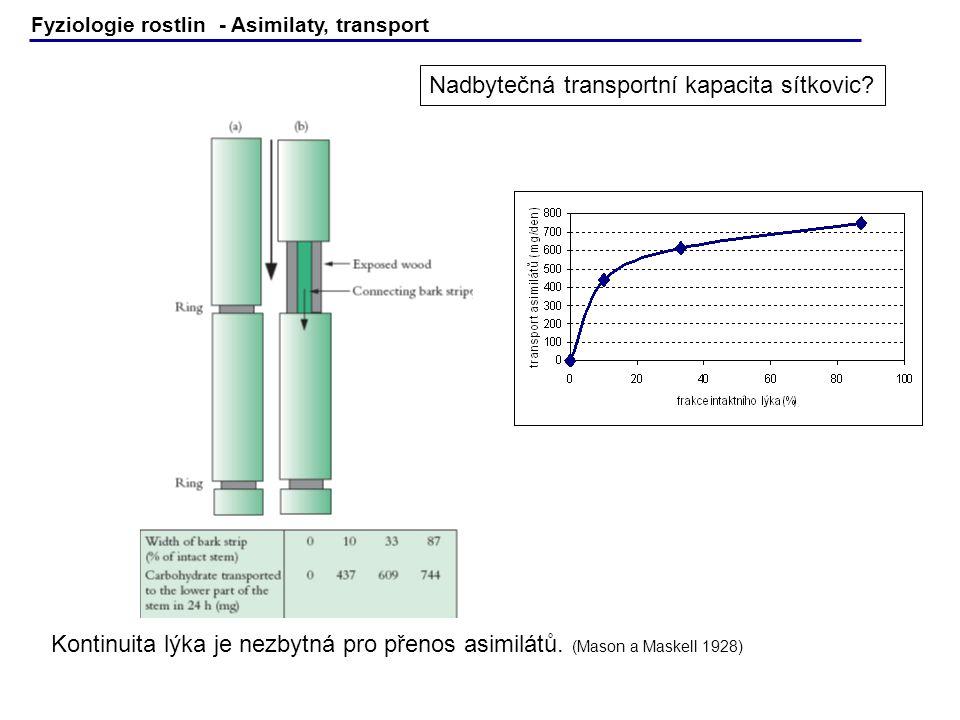 Nadbytečná transportní kapacita sítkovic