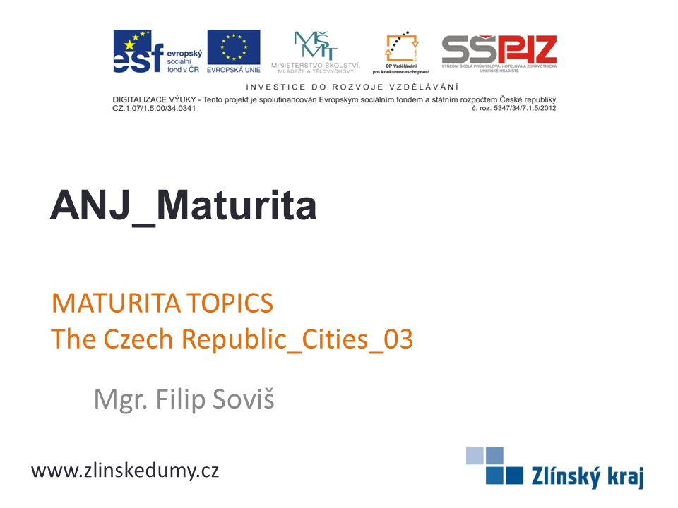 MATURITA TOPICS The Czech Republic_Cities_03