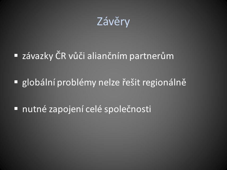 Závěry závazky ČR vůči aliančním partnerům