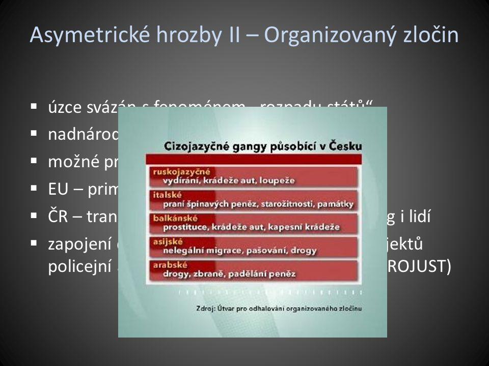 Asymetrické hrozby II – Organizovaný zločin
