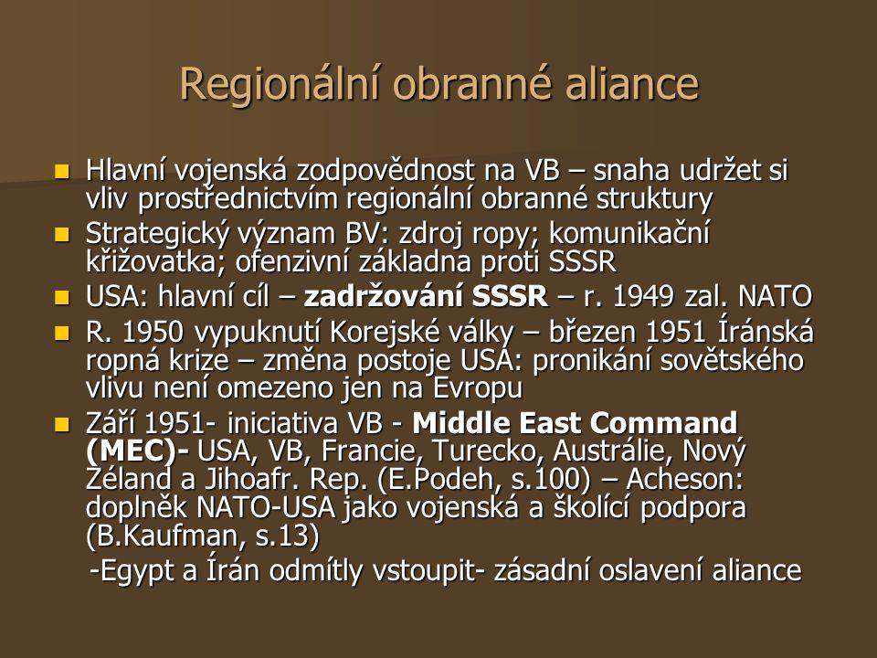 Regionální obranné aliance