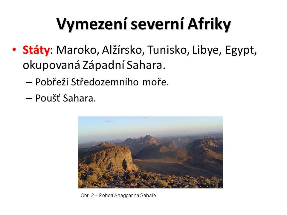 Vymezení severní Afriky
