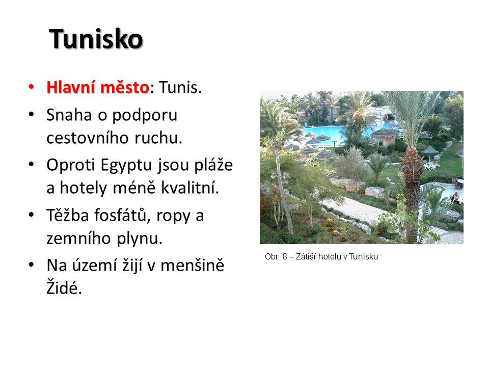 Tunisko Hlavní město: Tunis. Snaha o podporu cestovního ruchu.