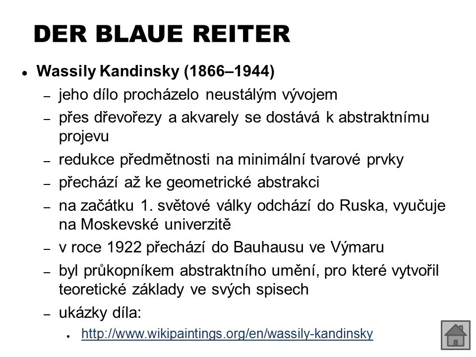 DER BLAUE REITER Wassily Kandinsky (1866–1944)