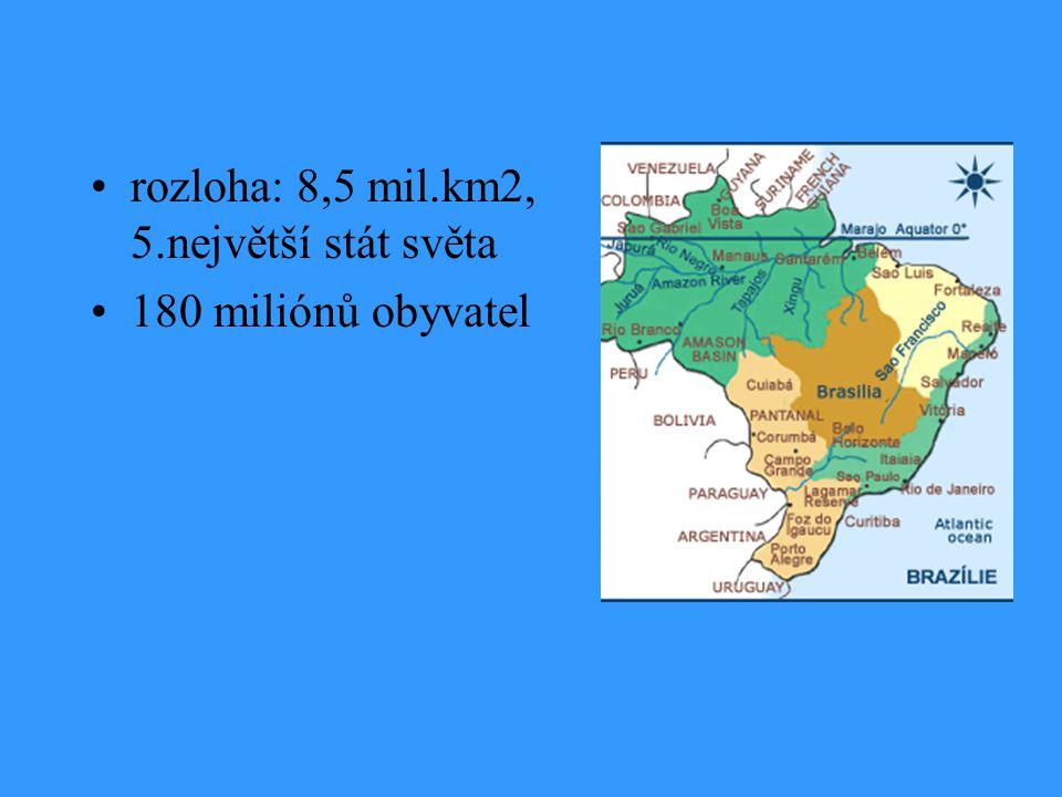 rozloha: 8,5 mil.km2, 5.největší stát světa