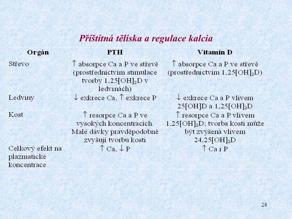 Příštítná tělíska a regulace kalcia