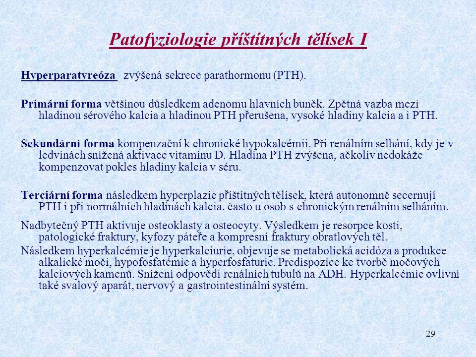 Patofyziologie příštítných tělísek I