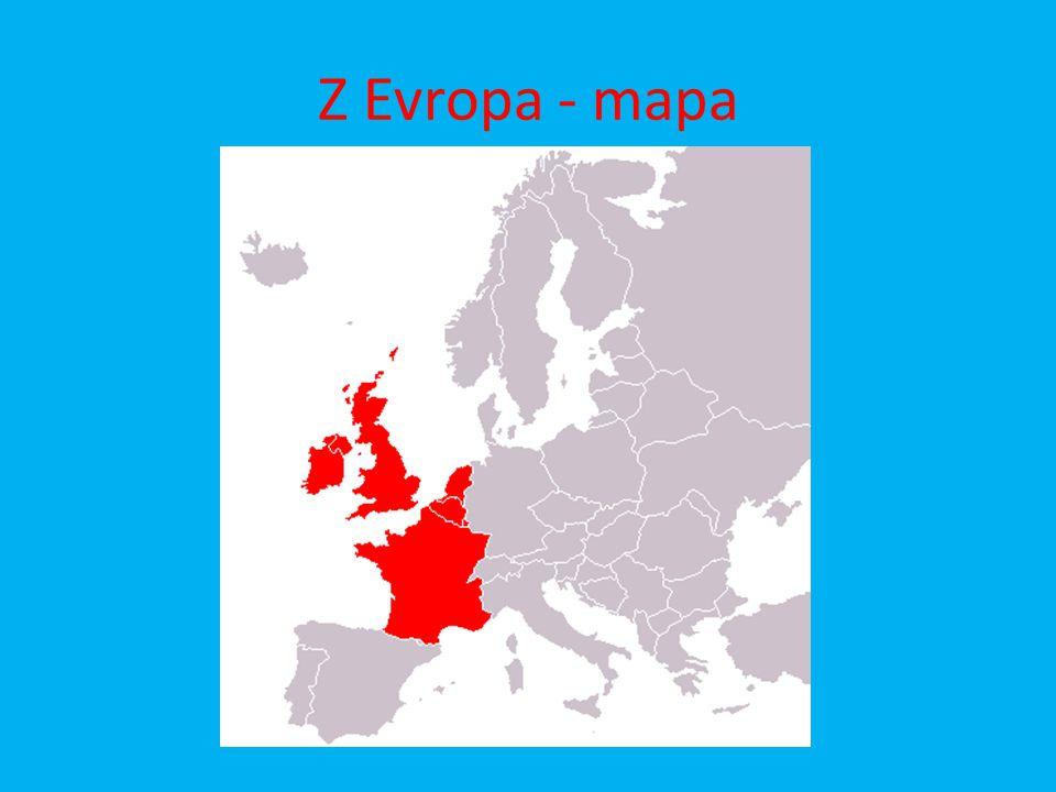 Z Evropa - mapa