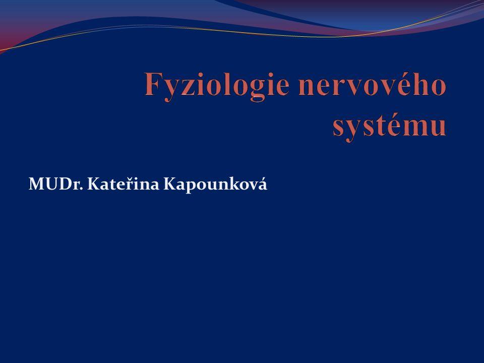 Fyziologie nervového systému