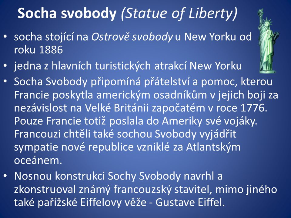 Socha svobody (Statue of Liberty)