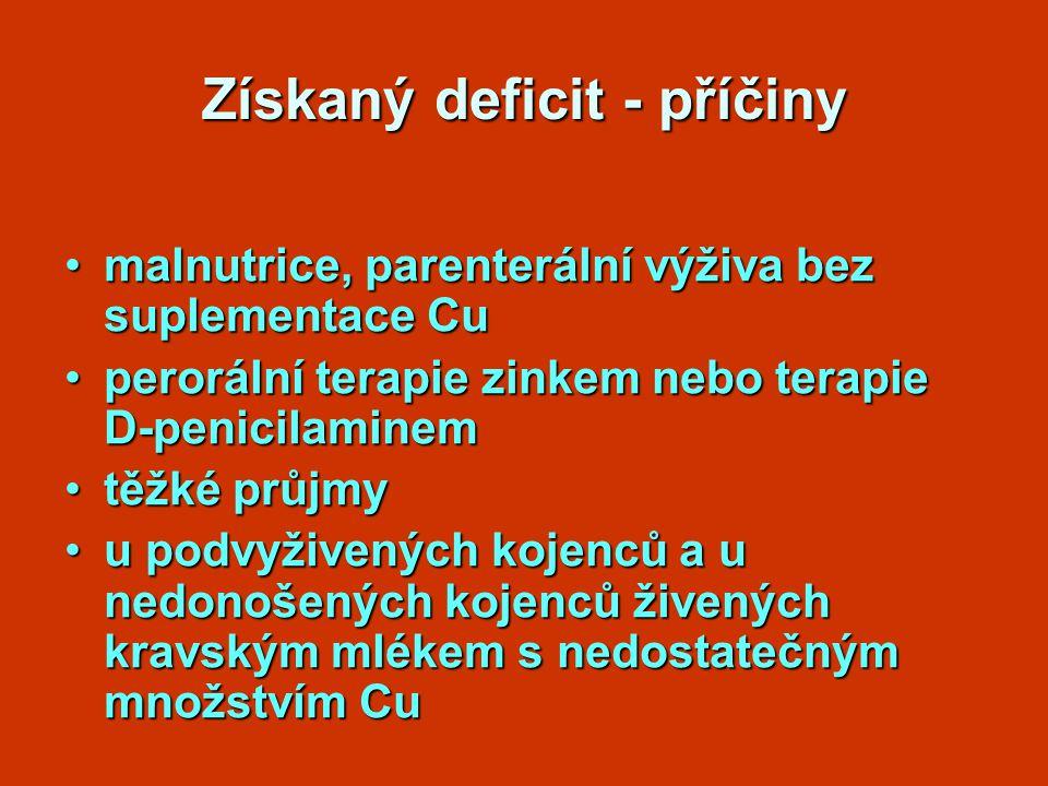 Získaný deficit - příčiny