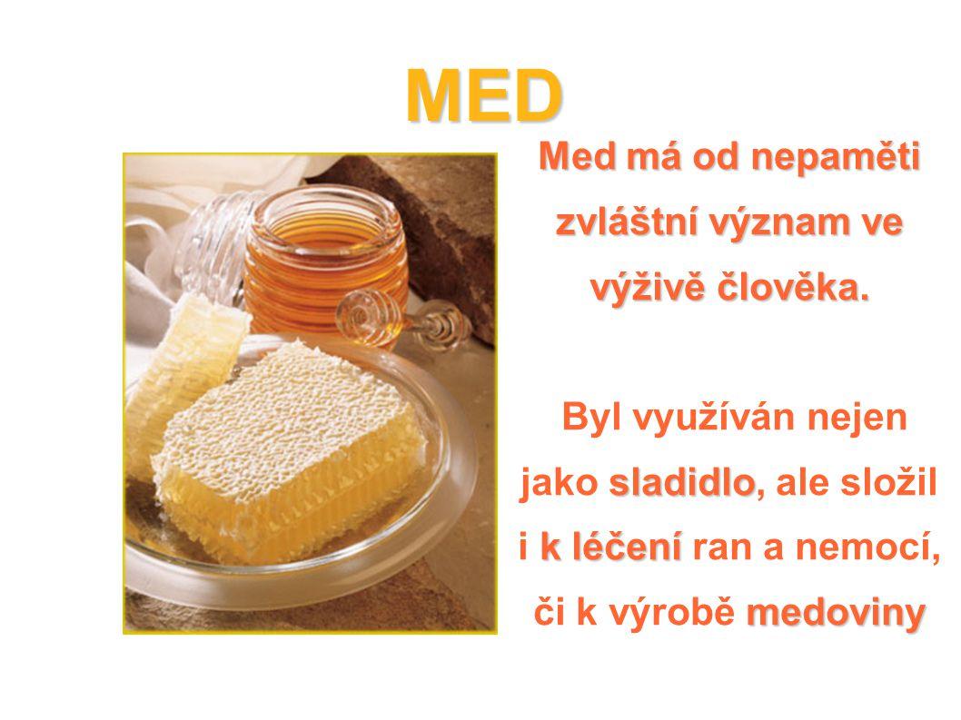 Med má od nepaměti zvláštní význam ve výživě člověka.