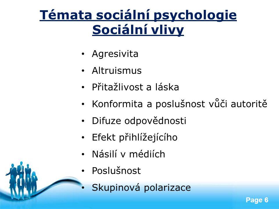 Témata sociální psychologie