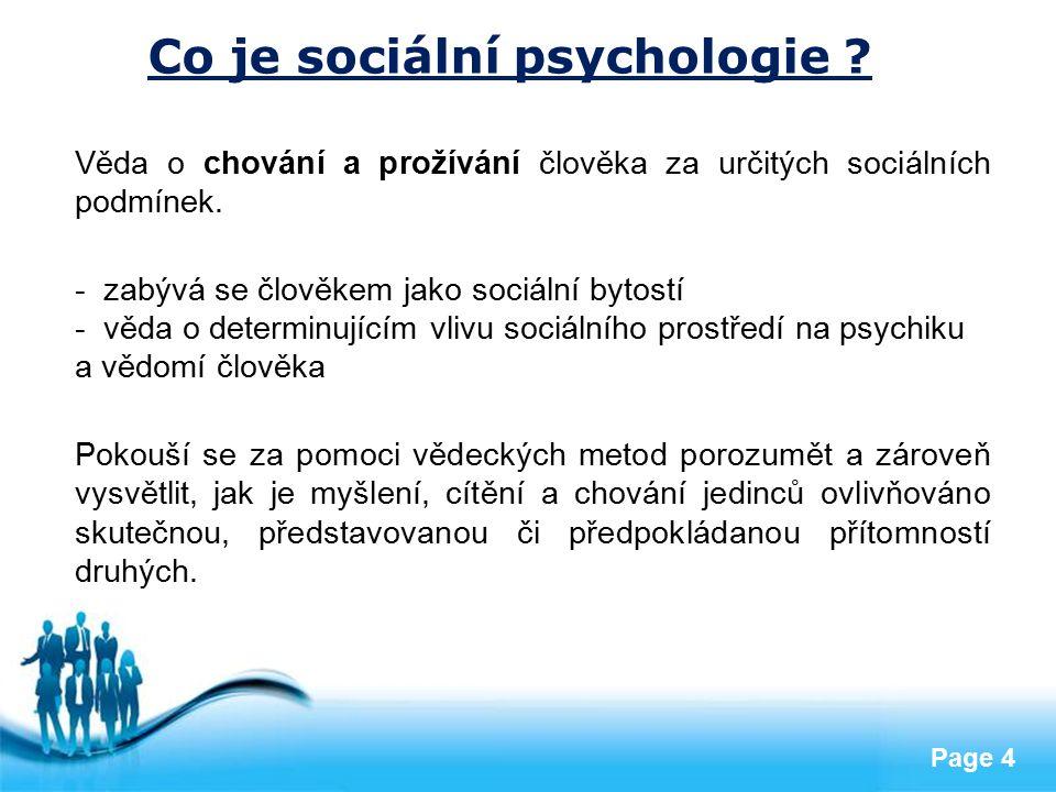 Co je sociální psychologie