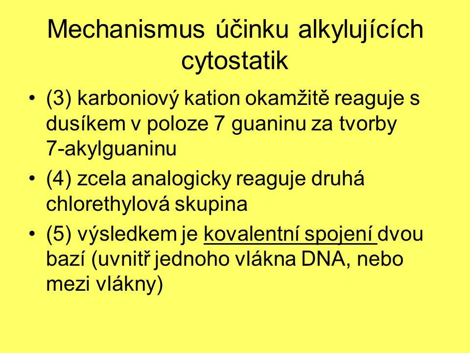 Mechanismus účinku alkylujících cytostatik