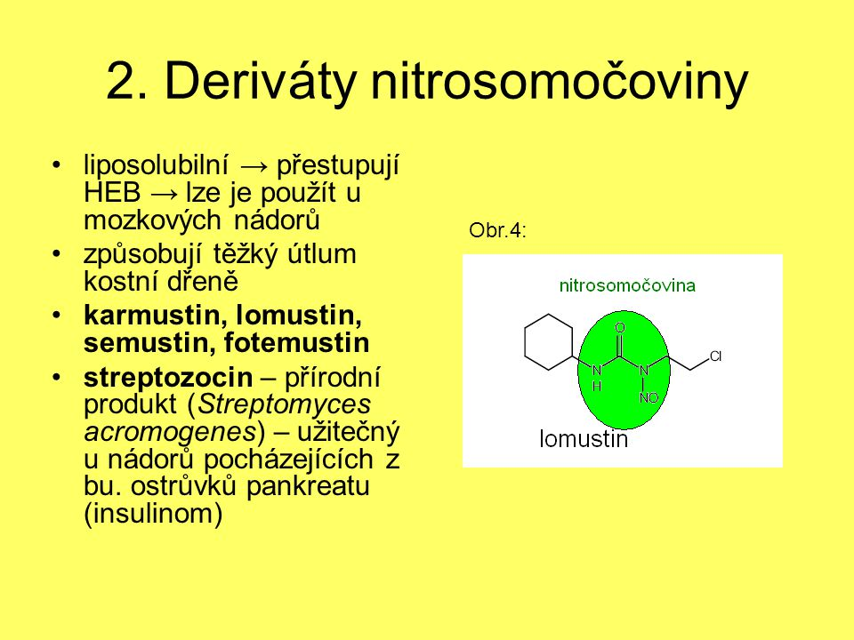 2. Deriváty nitrosomočoviny