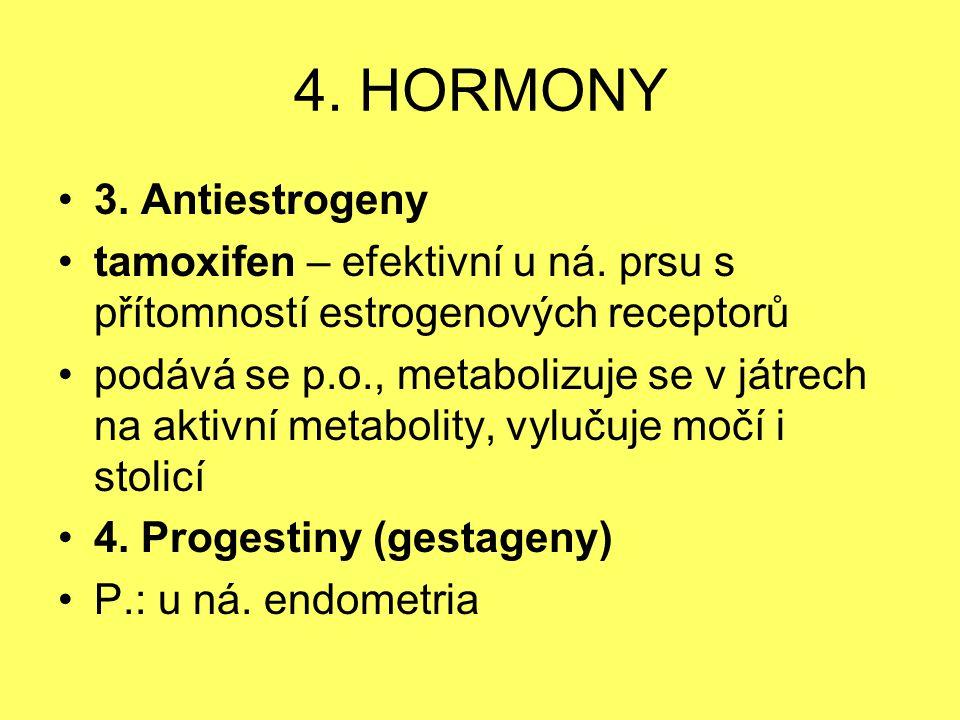 4. HORMONY 3. Antiestrogeny
