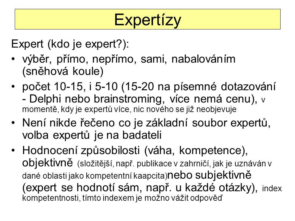 Expertízy Expert (kdo je expert ):