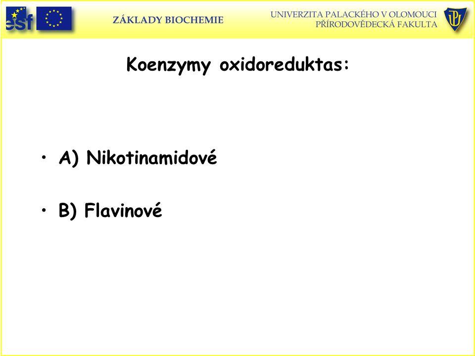 Koenzymy oxidoreduktas: