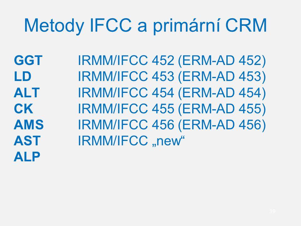 Metody IFCC a primární CRM
