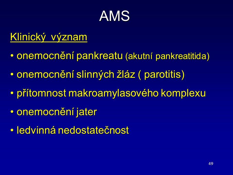 AMS Klinický význam onemocnění pankreatu (akutní pankreatitida)