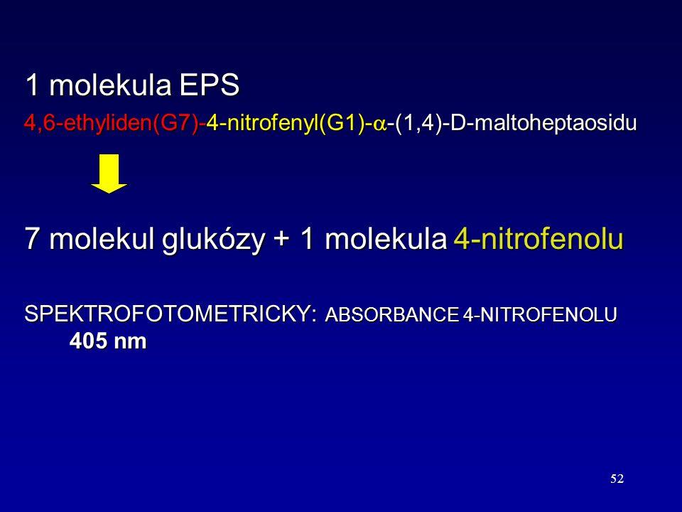 7 molekul glukózy + 1 molekula 4-nitrofenolu