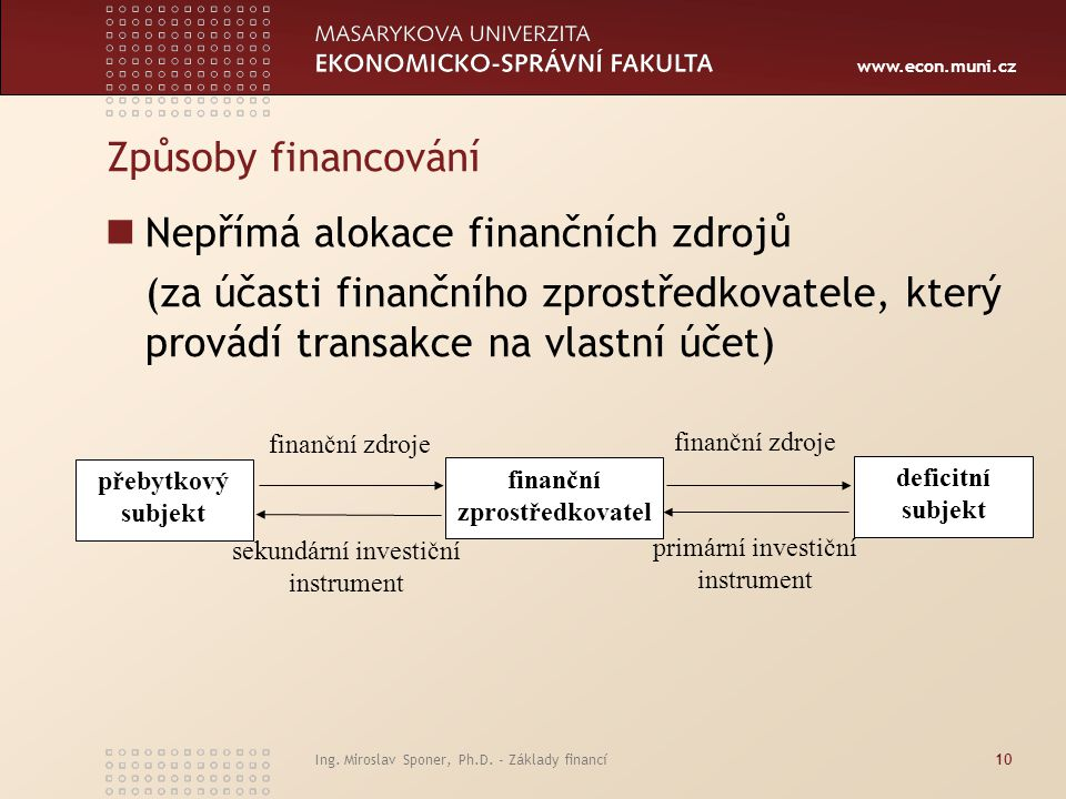 finanční zprostředkovatel