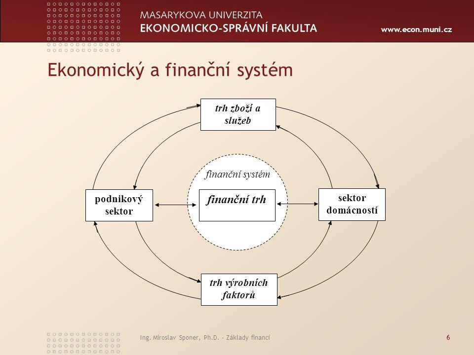 Ekonomický a finanční systém