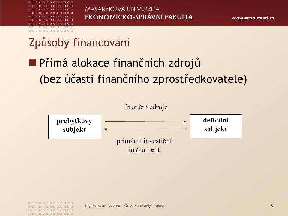 primární investiční instrument