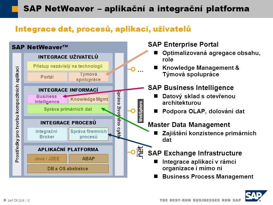SAP NetWeaver – aplikační a integrační platforma