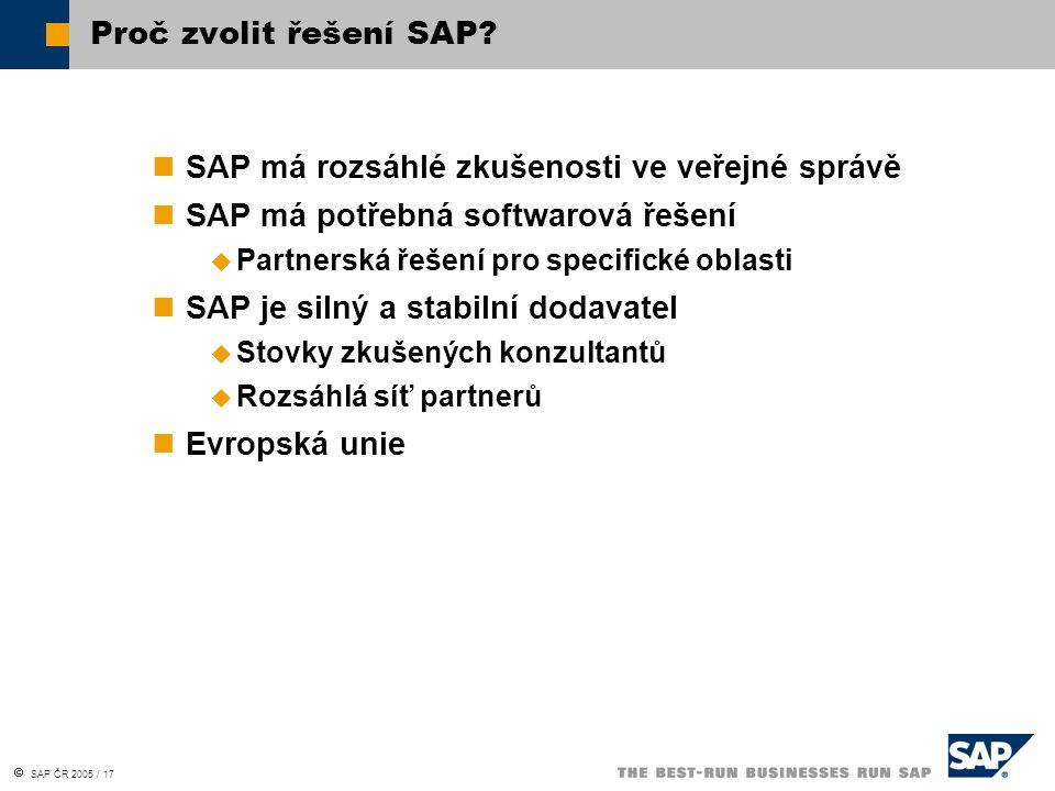 SAP má rozsáhlé zkušenosti ve veřejné správě