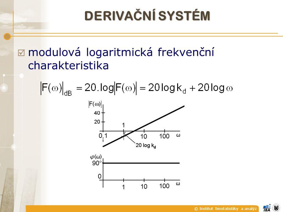 DERIVAČNÍ SYSTÉM modulová logaritmická frekvenční charakteristika