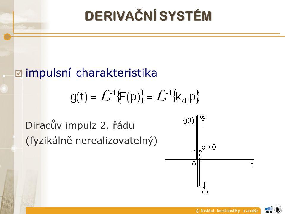 DERIVAČNÍ SYSTÉM impulsní charakteristika Diracův impulz 2. řádu
