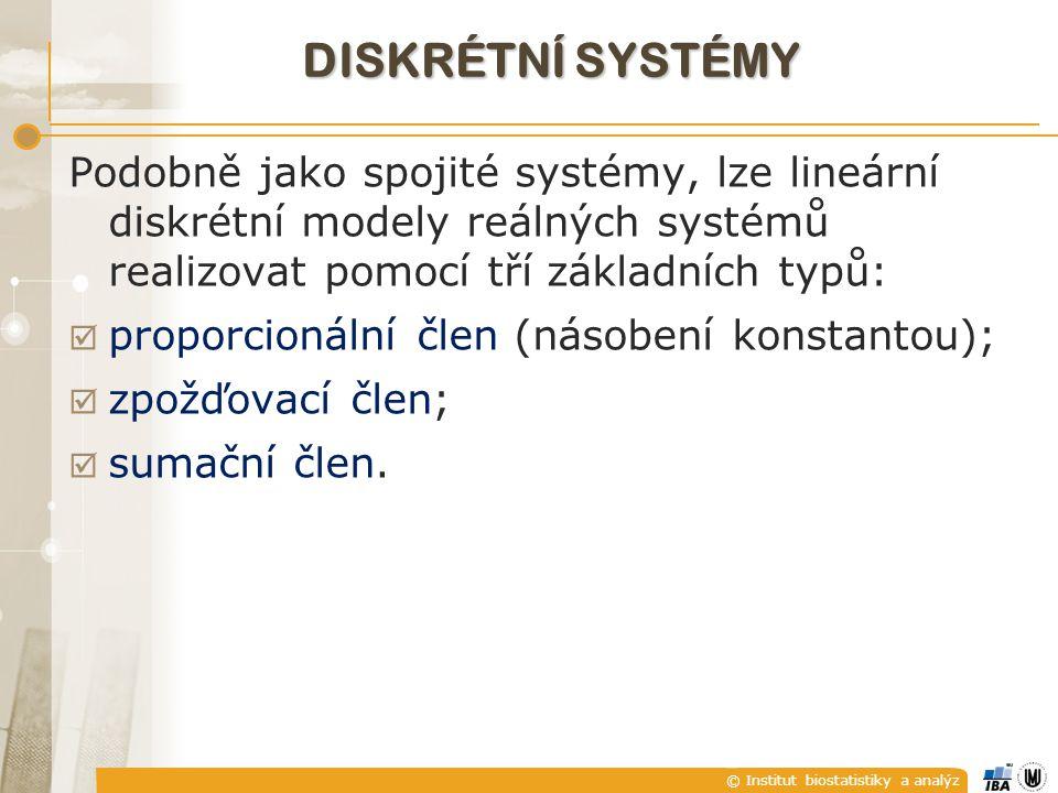 diskrétní systémy Podobně jako spojité systémy, lze lineární diskrétní modely reálných systémů realizovat pomocí tří základních typů: